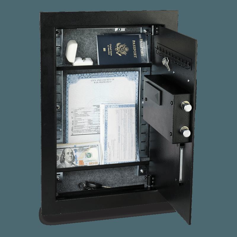 Viking Security Safe Vs 52blx Hidden Wall Biometric Fingerprint Lcd Keypad