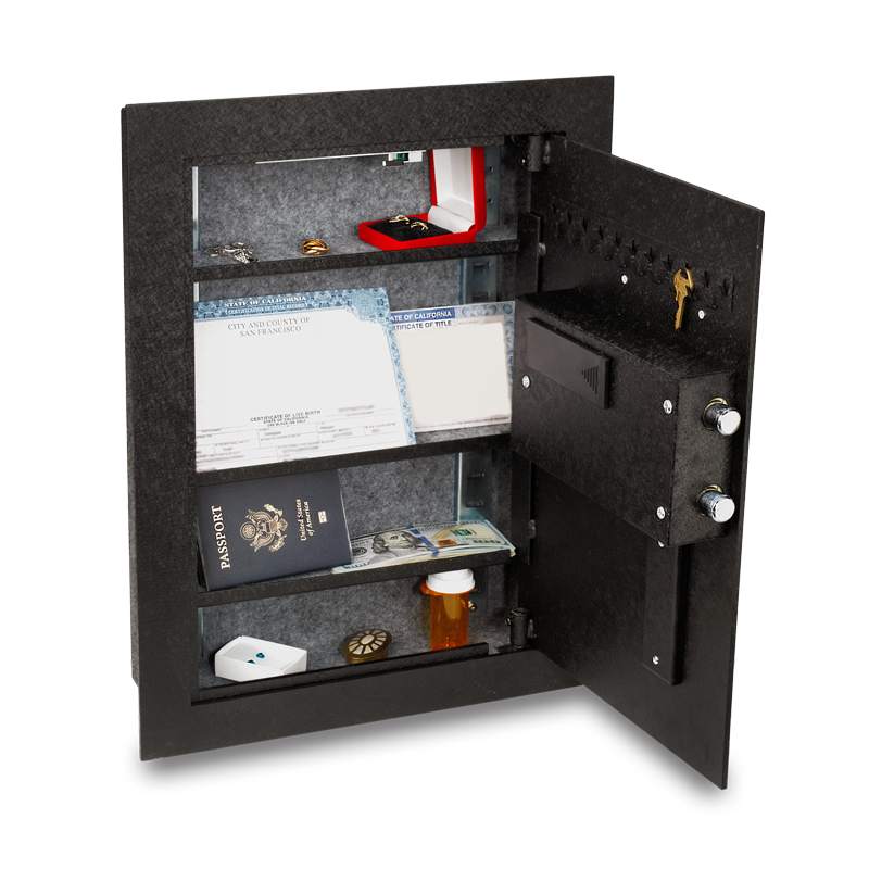 Viking Security Safe Vs 52blx Hidden Wall Biometric