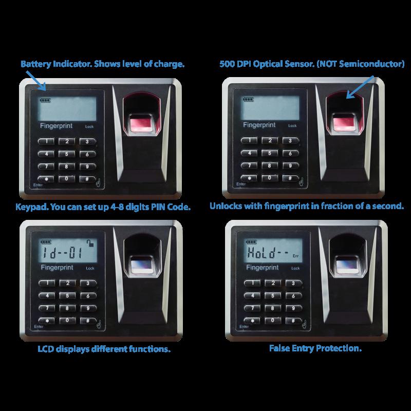Viking Security Safe VS-25BL Biometric Fingerprint LCD